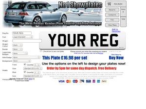 No1 Show Plates website