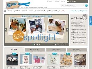 notonthehighstreet.com website