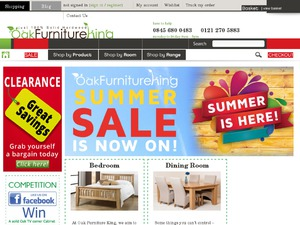 Oak Furniture King website