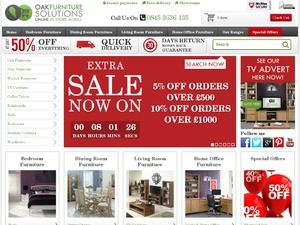 Oak Furniture Solutions website