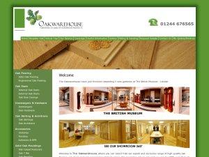 Oak Warehouse website