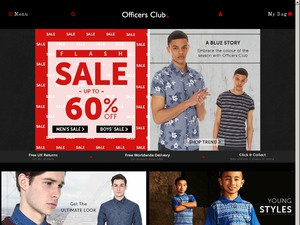 Officers Club website
