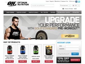 Optimum Nutrition website