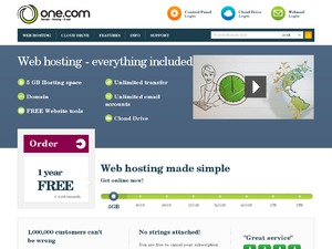 One.com website