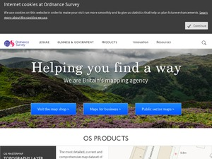 Ordnance Survey website