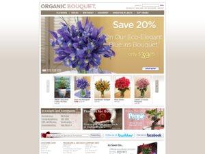 Organic Bouquet website