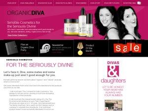 Organic Divas website