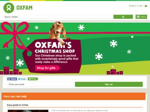 Oxfam Online Shop website