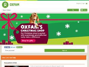 Oxfam Online Shop website
