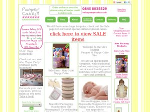 PamperCake website