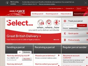 Parcelforce website