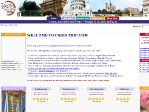 Paris Trip website