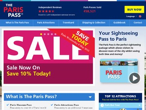 Paris Pass website