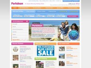 Parkdean Holidays website