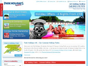 Park Holidays website