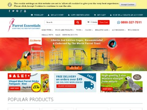 Parrot Essentials website
