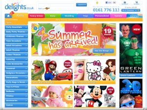 Party Delights website
