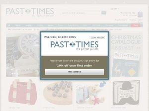 Past Times website