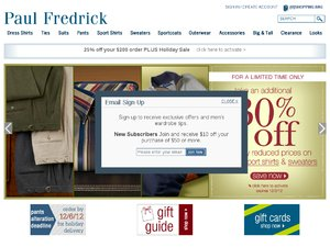 Paul Fredrick website