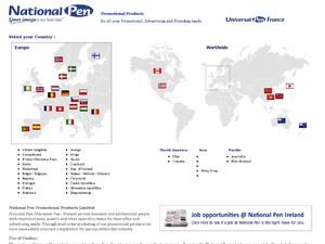 Universal Pen FR website