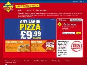 Perfect Pizza website