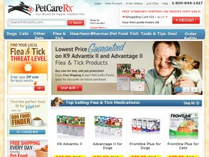 PetCareRx website