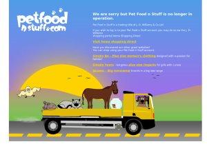 Pet Food N Stuff website