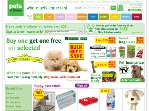 Pets at Home website