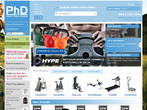 PHD Fitness website