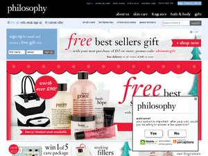 philosophyskincare.co.uk website