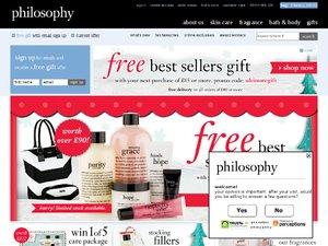 philosophyskincare.co.uk website