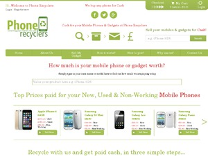 Phone Recyclers website