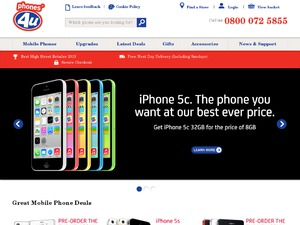 Phones4U website