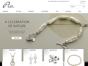 Pia Jewellery website