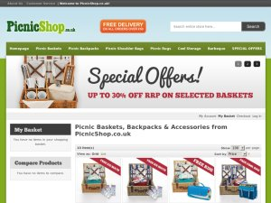 Picnic Shop website