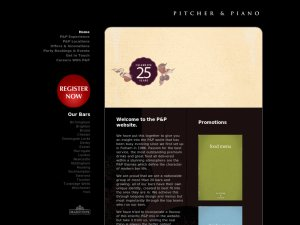 Pitcher And Piano website