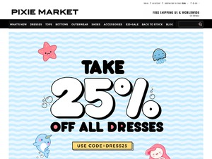 Pixie Market  website