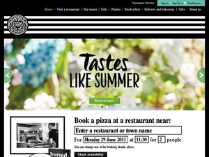 Pizza Express website