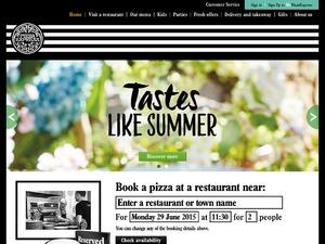 Pizza Express website