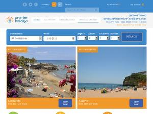 Premier Holidays website
