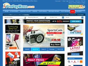 Pre Pay Mania website
