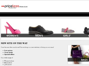 Priceless Shoes website