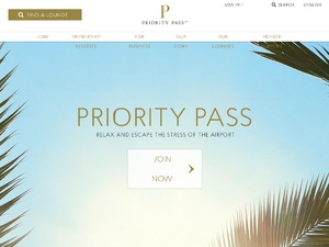 Priority Pass website