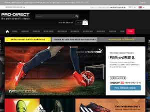 Redeeming your Pro Direct Soccer discount code Pro Direct Soccer have made it easier than even to apply your discount code. Simply select your brand new item, add it to your basket and then select the basket icon in the top right hand corner of the screen.
