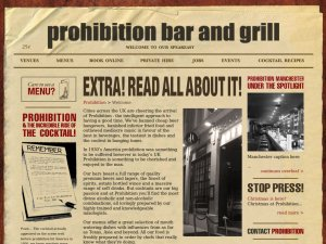Prohibition bar website