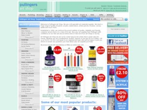 Pullingers Art Store website