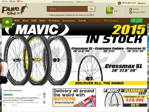 Pure Bike website