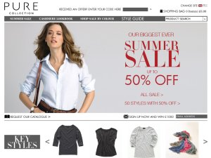 Pure Collection website