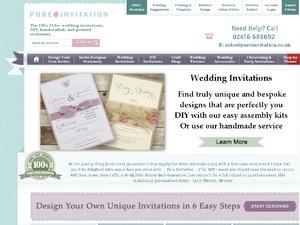 Pure Invitation website