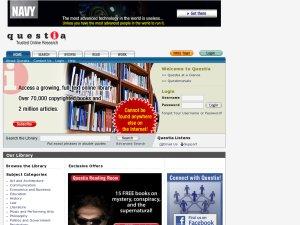 Questia Online Library website